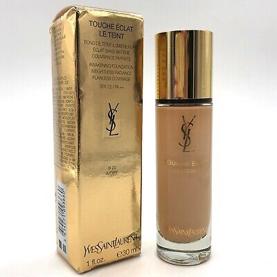 YSL Touche Éclat Le Teint Foundation - B 20 Ivory 30ml - NEW Damaged Box • 25.95£