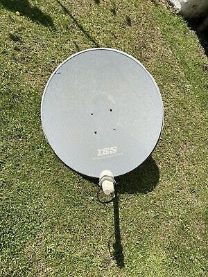 80cm Zone 2 Satellite Dish, H-H Motor DiSEqC 1.2 TM-2100A, Cables, Wall Mount • 60£