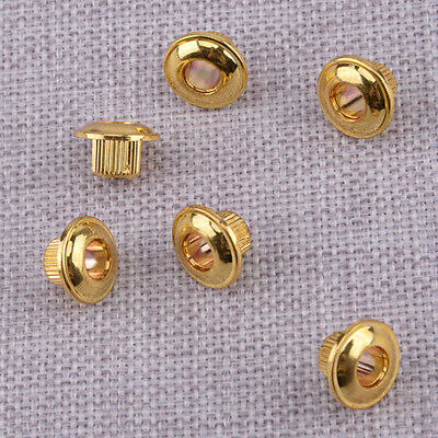 $ CDN11.11 • Buy 6xGolden 10mm Keys Conversion Bushing Adapter Ferrules Fit Vintage Guitar Tuner