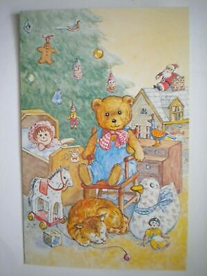 $ CDN1.49 • Buy Vintage Old-fashioned Christmas Toys Under The Tree Greeting Card + Envelope