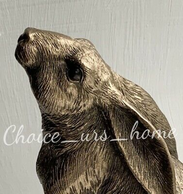 £11.95 • Buy Lovely New Bronze Sky Gazing Hare Ornament Figurine Gift Treat Home Statue