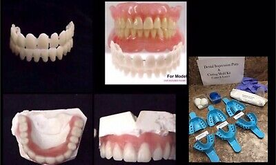 $69.99 • Buy At Home Denture DIY Denture Kit A2 Dental Impression Putty Mold Upper/Lower
