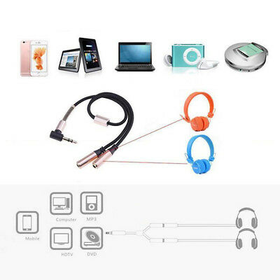 $ CDN3.99 • Buy 3.5mm Aux Audio Splitter Y Cable Headphone Adapter 1 Male Jack To 2 Dual Female