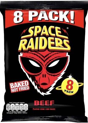 64 Packs Space Raiders Crisps Beef11.8g Every Child's Favourite • 22.99£
