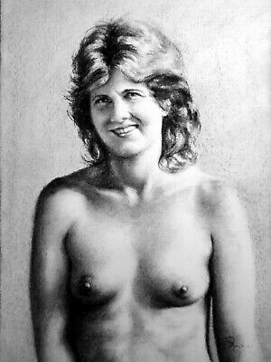 £38.94 • Buy Ani Topless Portrait, Draw On Charcoal, A3 Paper