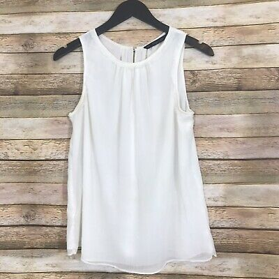 $10.99 • Buy ZARA Trafaluc MMXII Collection Chiffon White Sleeveless Blouse