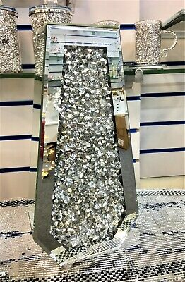 Sparkle Palace Diamond Crushed Crystal Sparkly Silver Mirrored Floor Vase 40CM • 74.99£