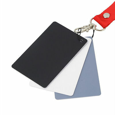 3 In 1 Pocket-Size Digital White Black Grey Balance Cards 18% Gray Card 、 DnL LD • 2.47£