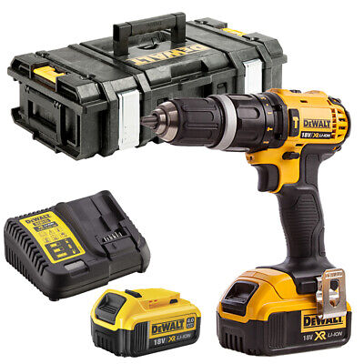DeWalt DCD785N 18V Combi Drill With 2 X 4.0Ah Batteries Charger & Tool Box • 220£