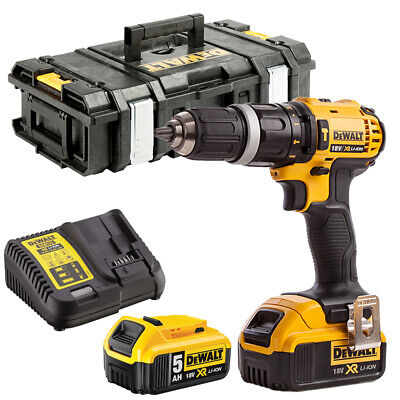 DeWalt DCD785N 18V Combi Drill With 2 X 5.0Ah Batteries Charger & Tool Box • 212£