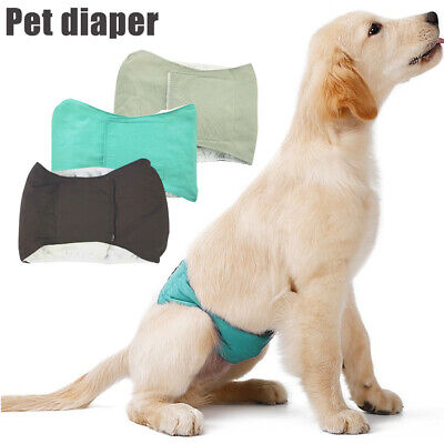 Physiological Sanitary Pants Girth Male Dog Care Belt Diapers Comfortable Cotton • 5.99£