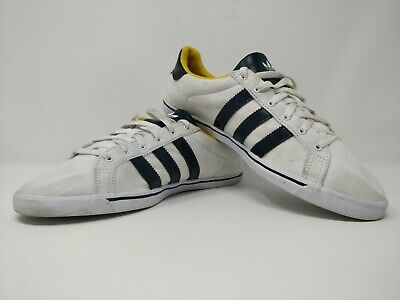 Womens Adidas Court Star Slim Mid Trainers | White Yellow | Canvas - Size 6.5 • 19.99£