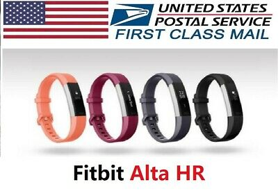 $ CDN102.21 • Buy Fitbit Alta HR Fitness Activity Tracker, Large Small, Pink Black Orange Fuchsia