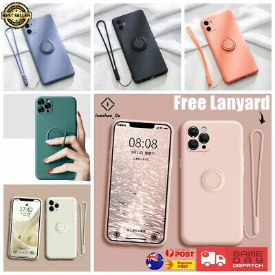 AU9.99 • Buy Liquid Silicone Cover For IPhone 11/Pro/Max SE Xs XR Shockproof Ring Stand Case