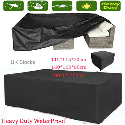 Garden Patio Furniture Set Cover Waterproof Covers Cube Rattan Table Cover 3Size • 9.99£