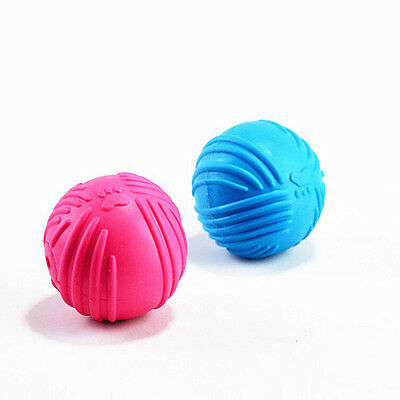 £2.57 • Buy Indestructible Solid Rubber Ball Pet Cat Dog Training Chew Play Fetch Bite LBDA