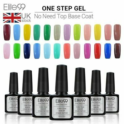 Elite99 3 In 1 One Step Gel Polish Lacuqer Nail Art Varnish Manicure 10ML UV LED • 2.89£