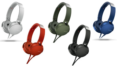 AU99 • Buy Sony MDR-XB550 EXTRA BASS™ Headphones - Black/Red/Green/Blue/White - RRP $129.95
