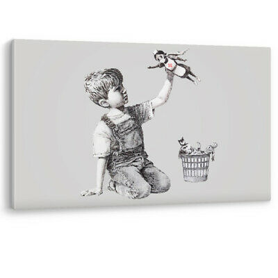 Banksy Framed Game Changer Canvas NHS Super Hero Nurse Wall Art Picture Print • 12.95£