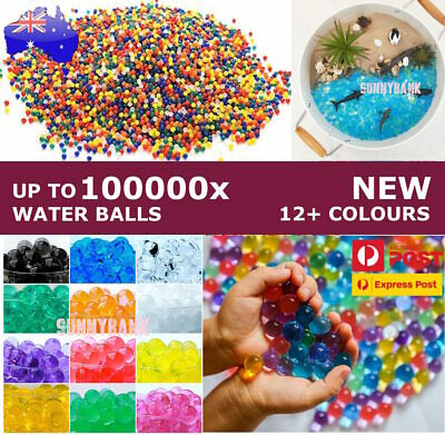 AU6.79 • Buy 50000pcs Orbeez Crystal Soil Water Balls Jelly Gel Beads For Vase Home Wedding