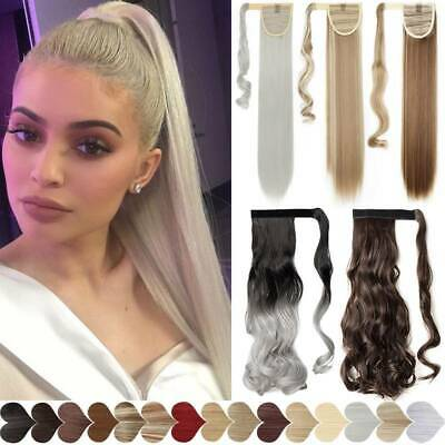 £3.59 • Buy Wrap Around Magic Ponytail Hair Extensions Clip In Real Thick As Human One Piece