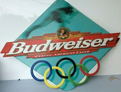 $ CDN112.30 • Buy 1997 BUDWEISER Winter Olympics Embossed Metal Sign, 24  X 28