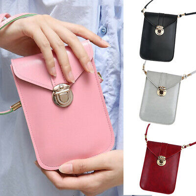 AU15.99 • Buy Women PU Leather Crossbody Bag Mobile Phone Bag Pouch Card Wallet Touch Screen