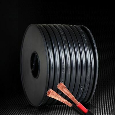 AU105.95 • Buy 6mm Twin Core Cable Black Sheathing Automotive Electrical Wire 450V AC/DC 30M