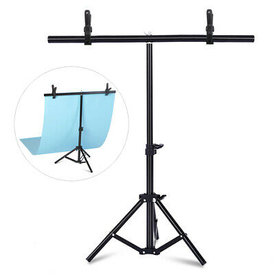 T Backdrop Stand Background Adjustable Support Photo PVC Backdrop Studio  • 15.99£