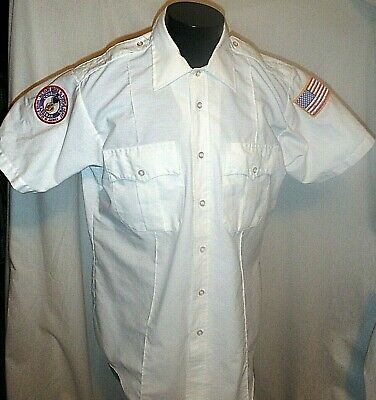 $18 • Buy Military Order Of The Purple Heart Patch On A Dress Uniform White Large Shirt