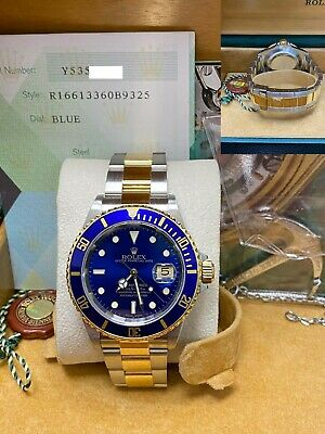 $ CDN12714.73 • Buy Rolex Submariner 16613 Blue Dial 18K Yellow Gold & Stainless Steel Box Papers