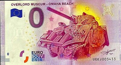 Ticket 0 Euro Overlord Museum Omaha Beach Char France 2017 Number Various • 7.86£