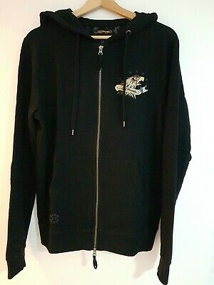 Bnwt Ed Hardy Tattoo Eagle Design Full Zip Hoodie Black Size Small • 29.99£