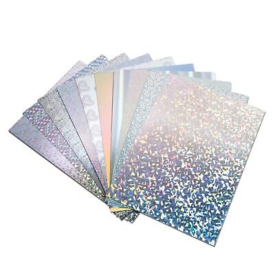 A4 Holographic Card - Luxury Metallic Products Choice Of Designs Silver • 3.99£