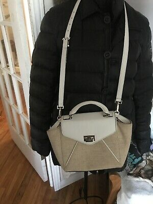 $ CDN79.99 • Buy Vintage Kate Spade  Leather & Canvas   Crossbody Tote Bag