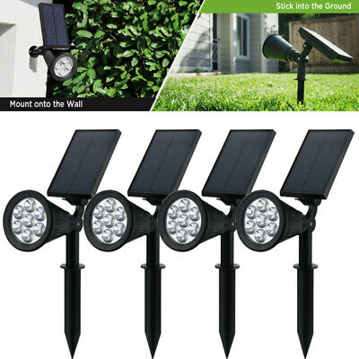 7 LED Solar Spot Lights Color Changing Garden Wall Light Outdoor Yard Lamp • 24.68£