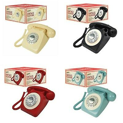 Benross Classic Retro Vintage Style Analog Dial Redial Home Phone Telephone Set • 29.99£
