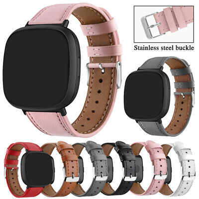 $ CDN12.78 • Buy Genuine Leather Replacement Wrist Watch Band Strap For Fitbit Versa / 2 / Lite