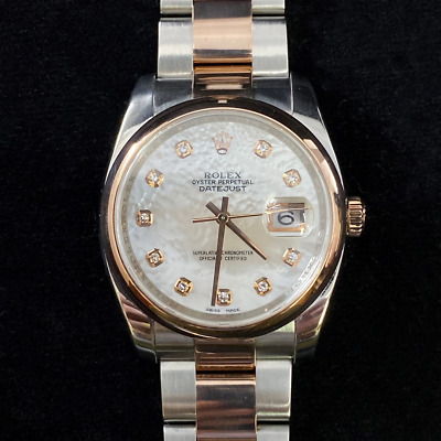 AU16250 • Buy Rolex Datejust Oyster Perpetual 2 Tone Watch 116201 #51844