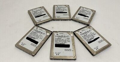 $ CDN92.46 • Buy Lot Of 6 Hitachi 250GB  Laptop Hard Disk Drive HTS545025B9A300 WIPED & TESTED