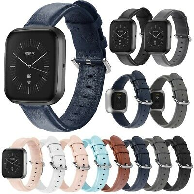 $ CDN14.75 • Buy For Fitbit Versa Band / 2 / Lite Leather Strap Wristband Replacement Sport Band