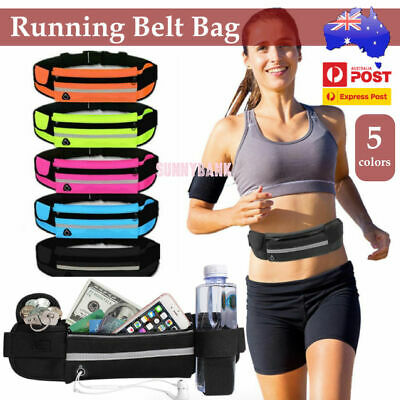 AU7.49 • Buy Waterproof Running Bum Bag Travel Waist Bags Money Zip Belt Pouch Sports Wallet
