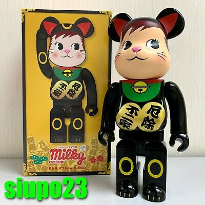 $639.99 • Buy Medicom 400% Bearbrick ~ Fujiya Milky Peko Be@rbrick Lucky Cat Black 2