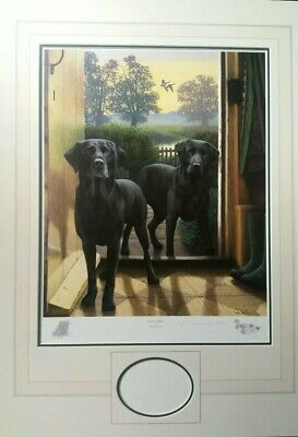 £159.99 • Buy Nigel Hemming Limited Edition Black Labradors  Add Picture Of Your Dog  Mounted