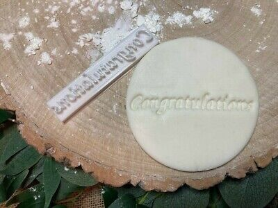 £3.79 • Buy Congratulations Embossing Stamp Cookie / Fondant / Icing
