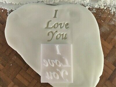 £3.79 • Buy I  Love You Embossing Stamp Cookie / Fondant / Icing