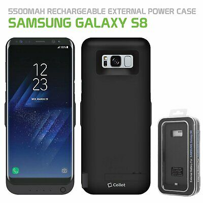 $ CDN30.32 • Buy Samsung Galaxy S8 Heavy Duty Rechargeable Battery Case Cover 5500mAh By CELLET.