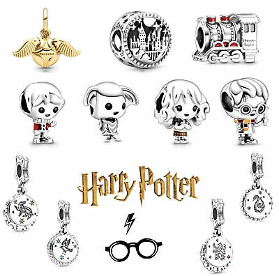 Harry Potter Wizard Fan Collection 925 Silver Bracelet Charm & Present Gift Bag • 11.99£