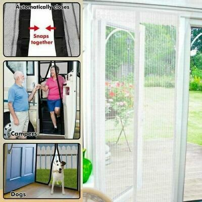 £6.99 • Buy White Magic Door Curtain Mesh Magnetic Fastening Hands Free Insect Fly Screen