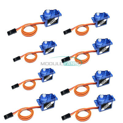 AU11.06 • Buy 8PCS Mini Micro Servo 9G SG90 For RC Robot Helicopter Airplane Car Boat Toys